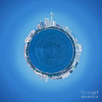 Skyscraper Mixed Media - Pattaya World by Atiketta Sangasaeng