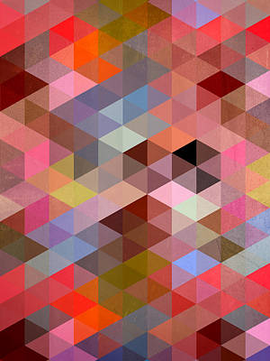 Geometric Digital Art - Pattern Of Triangle by Mark Ashkenazi