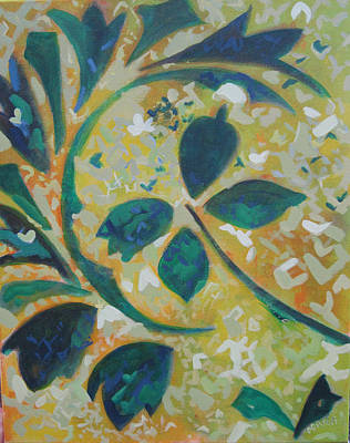 Painting - Patternalia In Yellow And Green by Sally Porter