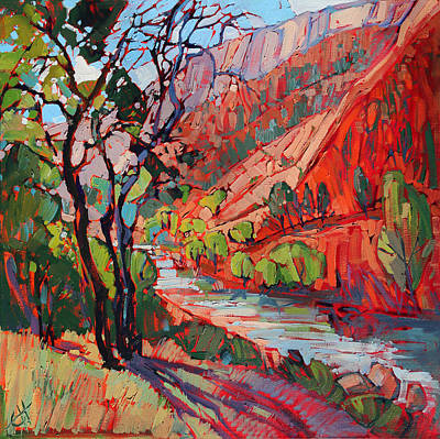 Southern Utah Painting - Patterns In The Shade by Erin Hanson