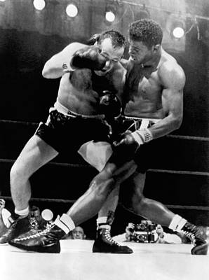 Heavyweight Photograph - Patterson And Johansson Boxing by Underwood Archives