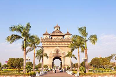 Patuxai Photograph - Patuxai Gate - Vientiane - Laos by Matteo Colombo