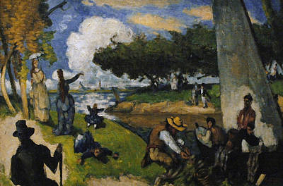 Paul Cezanne 1839-1906. The Fishermen Fantastic Scene. Ca. 1875 Print by Bridgeman Images