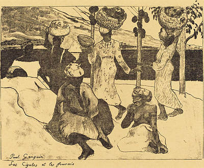 Ant Drawing - Paul Gauguin French, 1867 - 1939, Locusts And Ants A Memory by Quint Lox