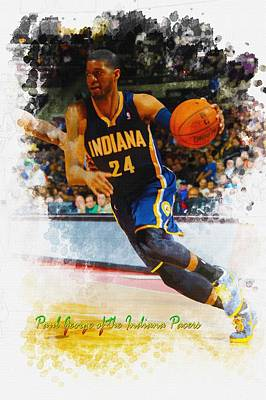 Paul George Of The Indiana Pacers  Original by Don Kuing