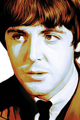 Paul Mccartney Artwork Print by Sheraz A