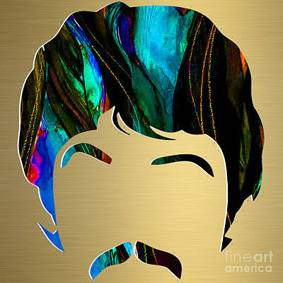 Paul Mccartney Mixed Media - Paul Mccartney Gold Series by Marvin Blaine