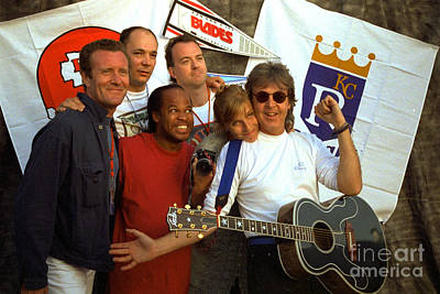 Concert Photograph - Paul Mccartney Group Kc 1993 Off The Ground Tour by Timothy Bischoff
