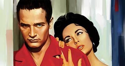 Paul Newman Artwork 3 Print by Sheraz A