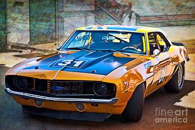 Muscle Car Masters Photograph - Paul Stubber Camaro by Stuart Row