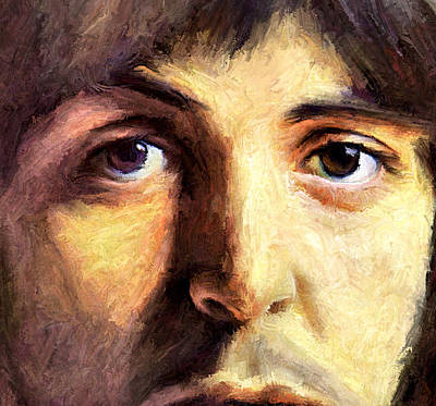 Mccartney Digital Art - Paul's Eyes by Yury Malkov