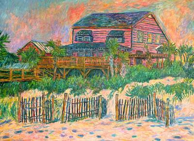 Impressionist Painting - Pawleys Island Pink On The Beach by Kendall Kessler