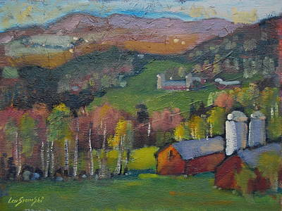 Distant Mountains Painting - Pawnel Vermont by Len Stomski