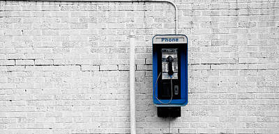Pay Phone Print by Mountain Dreams