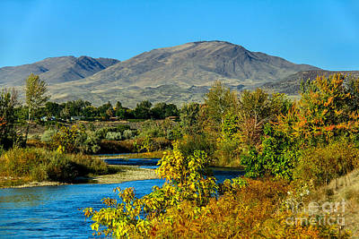 Haybales Photograph - Payette River And Squaw Butte by Robert Bales