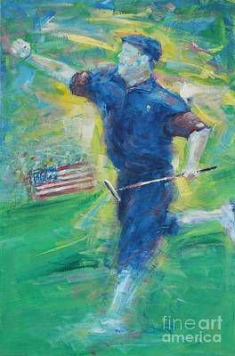 Us Open Painting - Payne's Triumph by Dan Campbell