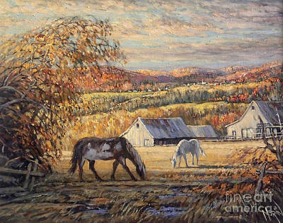 Canadiens Painting - Paysage Des Cantons by Pierre Morin