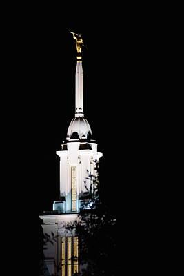 Night Photograph - Payson Temple by Gloria Pasko