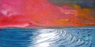 Ocean Painting - Pch Sunset by Jane Ubell-Meyer