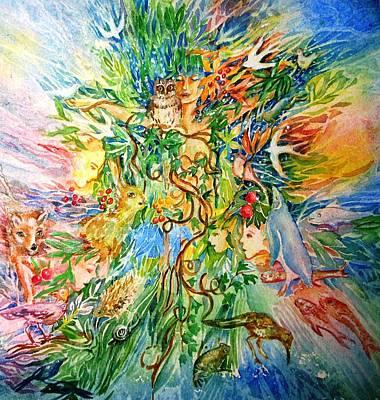 Peacable Kingdom No.2 Original by Trudi Doyle