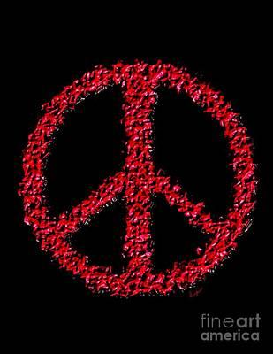 Iraq War Painting - Peace ? by Sergio B