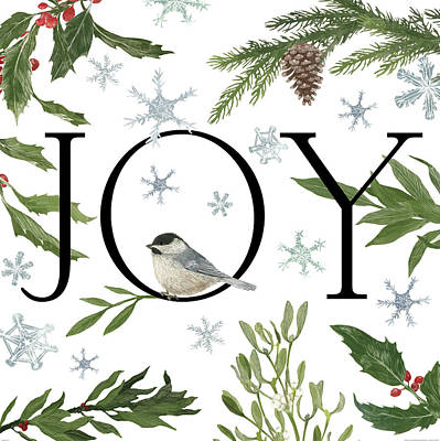 Peace And Joy II Print by Sara Zieve Miller