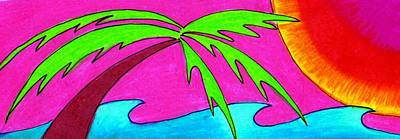 Sun Drawing - Peace At The Beach by Geree McDermott