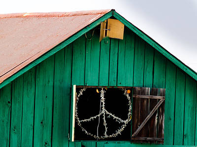 Blissfest Print featuring the photograph Peace Barn by Bill Gallagher