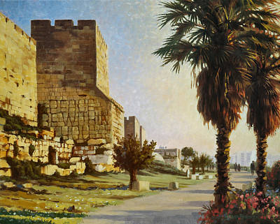 Prosperity Painting - Peace Be Within You  Jerusalem by Graham Braddock