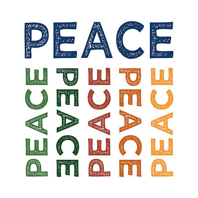 Peace Cute Colorful Print by Flo Karp