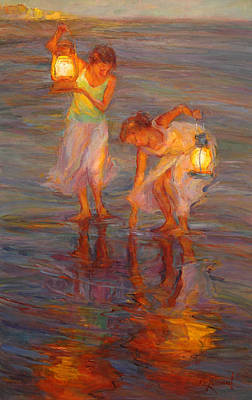 Lantern Painting - Peace by Diane Leonard