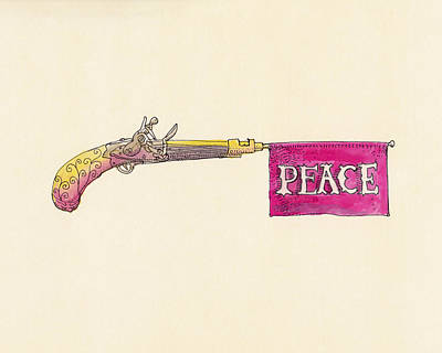 Antique Drawing - Peace by Eric Fan