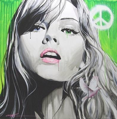Portrait - ' Peace II ' Original by Christian Chapman Art