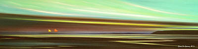 Peace Is Colorful - Panoramic View Print by Gina De Gorna