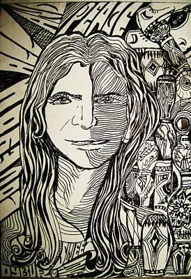 Peace Print by Lourents Oybur