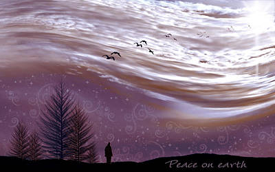 Peace On Earth Print by Holly Kempe