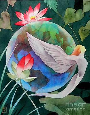 Watercolor Painting - Peace On Earth by Robert Hooper