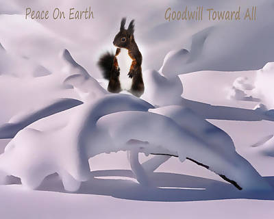 Snow Drifts Digital Art - Peace On Earth by Terril Heilman