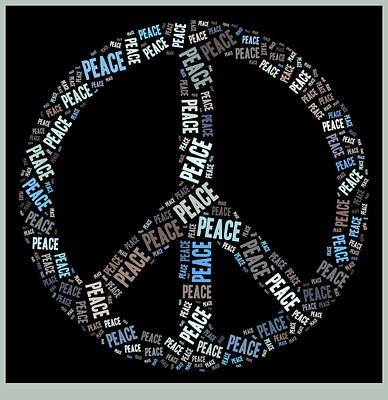 Peace Digital Art - Peace Symbol 02 - 0102a by Variance Collections