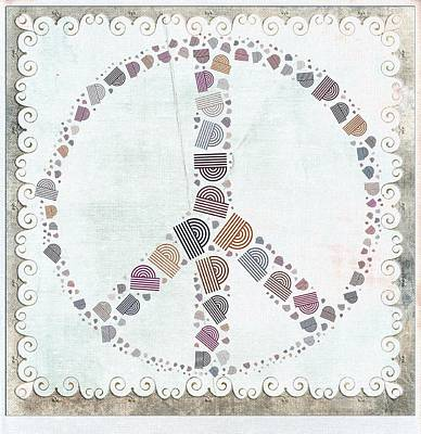 Peace Digital Art - Peace Symbol Design - S76at02 by Variance Collections