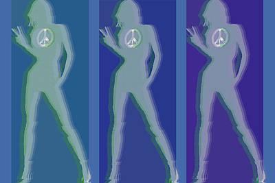 Peace Woman Repeat Original by Tony Rubino