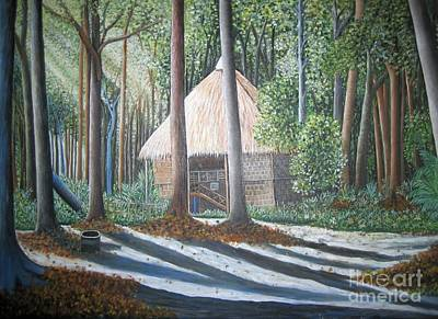 Peaceful Abode Print by Usha Rai