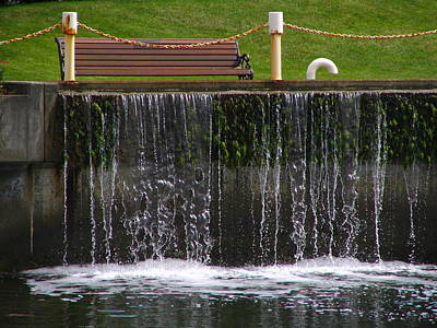 Sutton Photograph - Peaceful Bench  by Rheo