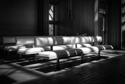Fay Photograph - Peaceful Benches by Joan Carroll
