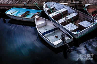 Rowboat Photograph - Peaceful Harbor by Diane Diederich