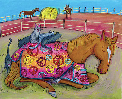 Bales Painting - Peaceful Pony by Marti McGinnis