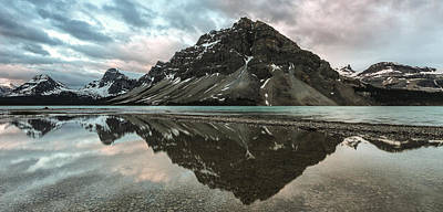 Bow Lake Photograph - Peaceful Reflection by Jon Glaser
