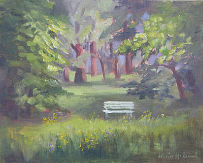 Iconic Painting - Peaceful Sanctuary Doernbergpark  by Karin  Leonard