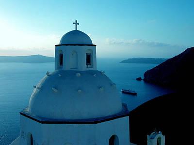 Peacefull Santorini Greek Island  Print by Colette V Hera  Guggenheim