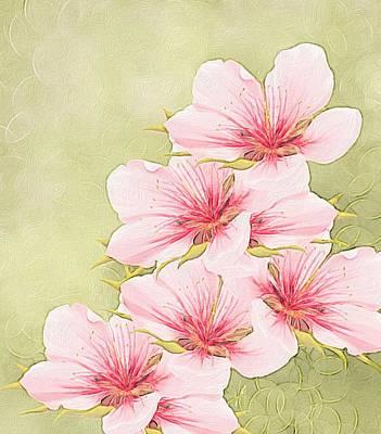 Peaches Painting - Peach Blossom by Veronica Minozzi